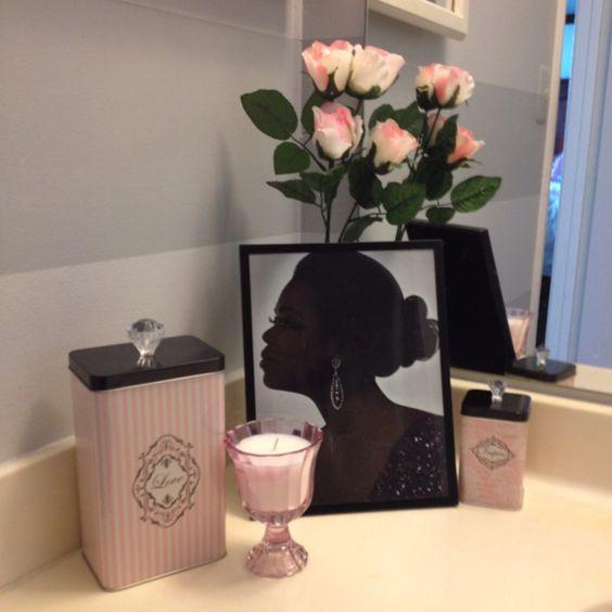 My pink glam bathroom decor design inspiration for Bathroom decor quiz