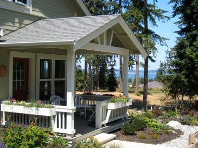 Porch With Open Gable Roof Patios Porches And Decks