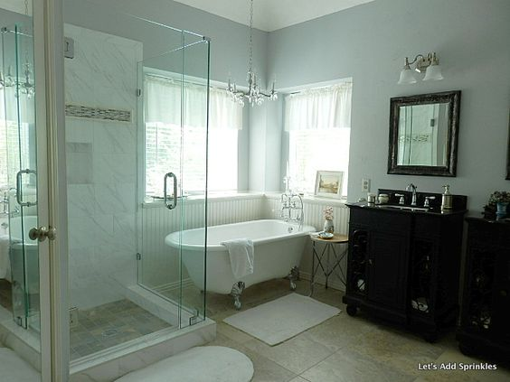 Sherwin williams gray master bath remodel and bath for Master bathroom paint