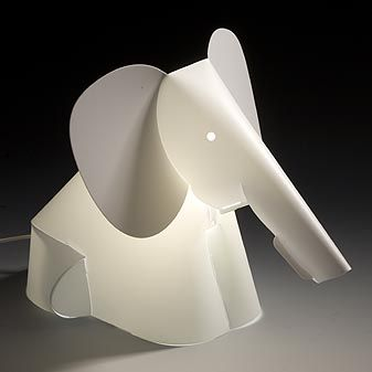 origami table lamp - elephant