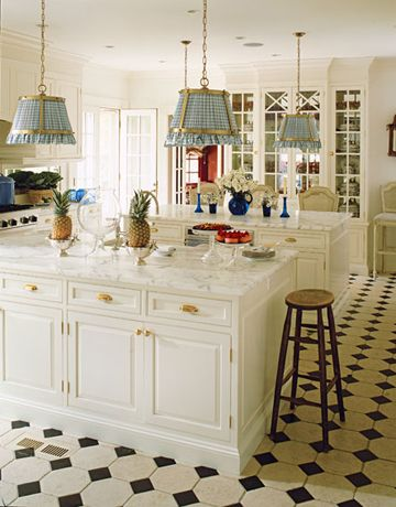 kitchen: White Kitchen, Kitchen Design, Dual Island, Country Kitchen, Light Fixture