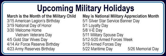 Military holidays