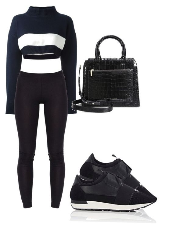 """Untitled #983"" by elly-langhorn ❤ liked on Polyvore featuring Jil Sander Navy, Balenciaga and Victoria Beckham"