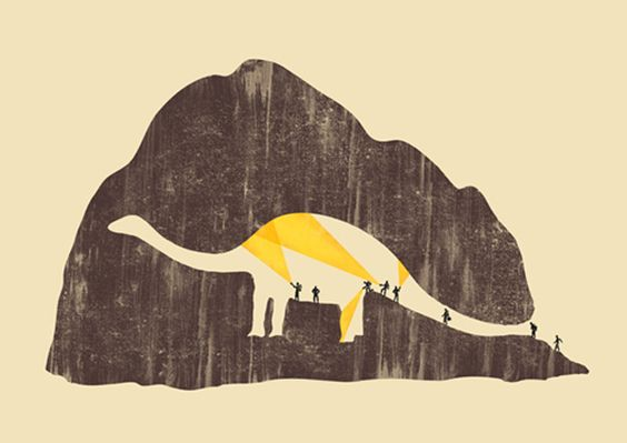 Clever Use of Negative Space: Graphic Design, Dinosaur Cave, Yau Hoong, Negative Space, Tang Yau, Shop Tangyauhoong, Art Prints, Dino Cave