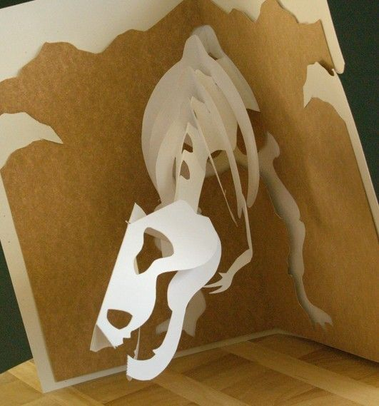 WHAT! I need these in my life //  Kirigami Jurassic Bobblehead Popup Card Series by popupcardmaking, $11.95