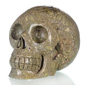 tibetan carved human skulls   ... Silver Leaf Jasper Carved Human Skull Carving #1j51, Crystal Healing