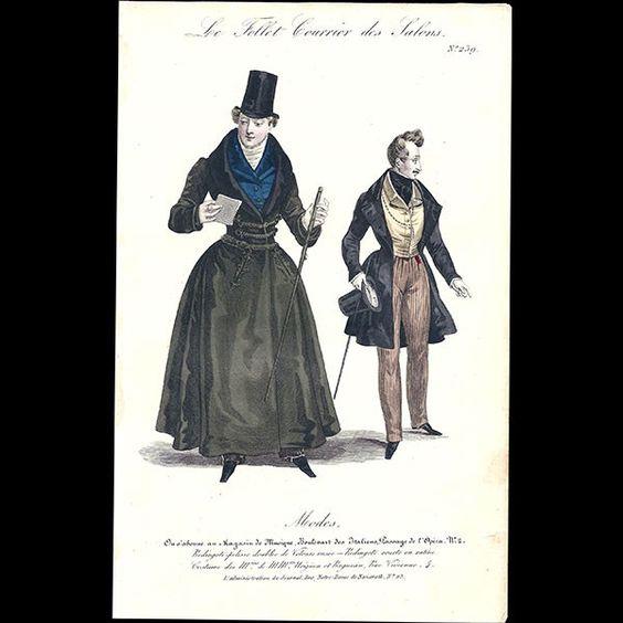 rare fashion books on Le Follet, Courrier des Salons, 7 gravures ...