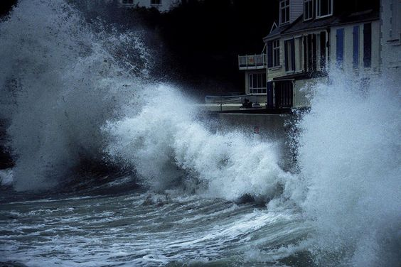 Cornish storm hits the harbour © Rob Watkins 1998 | Flickr - Photo Sharing!