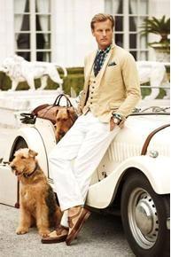 Ralph Lauren ouvre sa nouvelle boutique pour Homme au Bon Marché Rive Gauche - Magazine The Airedale models Callie and Corey belong to Susan LeVasseur