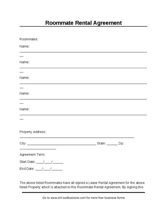 Printable Sample Room Rental Agreement Template Form – Simple Rental Agreement Example