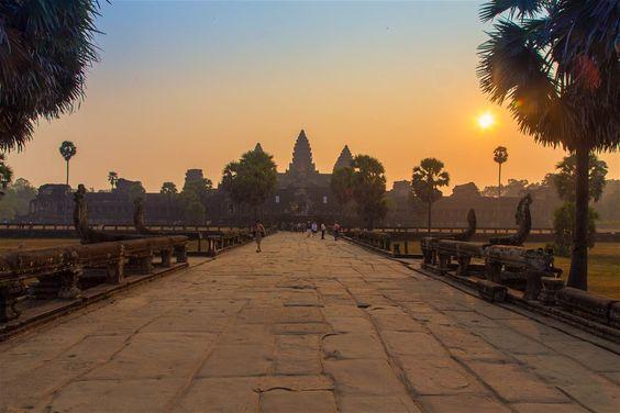Angkor Wat dưới ánh chiều
