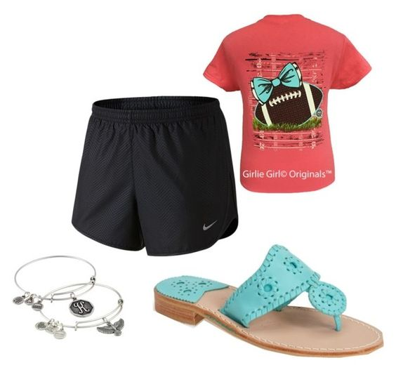 """Preppy-Sporty"" by kj-ales on Polyvore featuring Jack Rogers, NIKE and Alex and Ani"