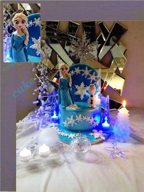 Cake Reine Des Neiges : Frozen cake Gateau reine des neiges Mes creations pour ...