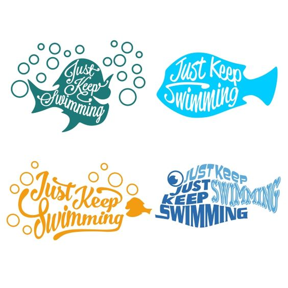 Just Keep Swimming Cuttable Design Cut File. Vector, Clipart, Digital Scrapbooking Download, Available in JPEG, PDF, EPS, DXF and SVG. Works with Cricut, Design Space, Cuts A Lot, Make the Cut!, Inkscape, CorelDraw, Adobe Illustrator, Silhouette Cameo, Brother ScanNCut and other software.