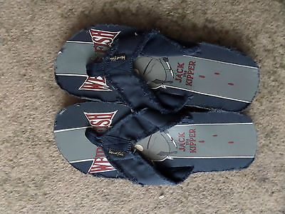 #Weird fish mens blue flip flop size 8 jack the #kipper #bnwot,  View more on the LINK: http://www.zeppy.io/product/gb/2/381692904893/