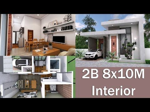 Sketchup Modeling Home Plan 10x12m This Villa Is Modeling By Sam Architect With 1 Storie Modern Bungalow House Modern Bungalow House Design House Layout Plans