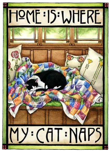 Home is where my cat naps - Mary Engelbreit: