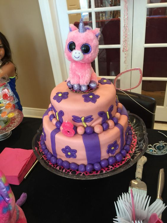 Beanie Boo Cake Cake Decorating And Ideas Pinterest