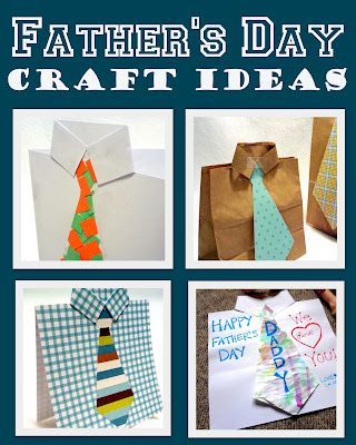 4 easy ideas for Father's Day crafts and cards.