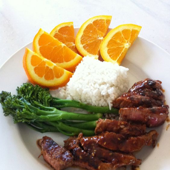 Teriyaki-style grilled steak