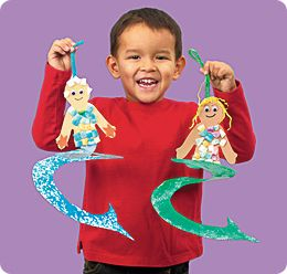 Sea creatures crafts lakeshore learning and mermaids on for Mermaid arts and crafts