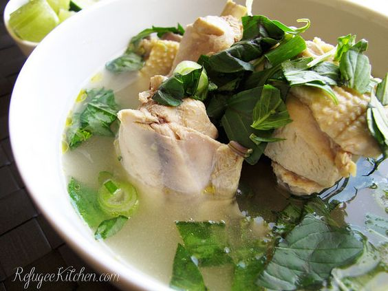 Sgnor Sach Moun - Cambodian Chicken Soup by RefugeeKitchen.com, via Flickr