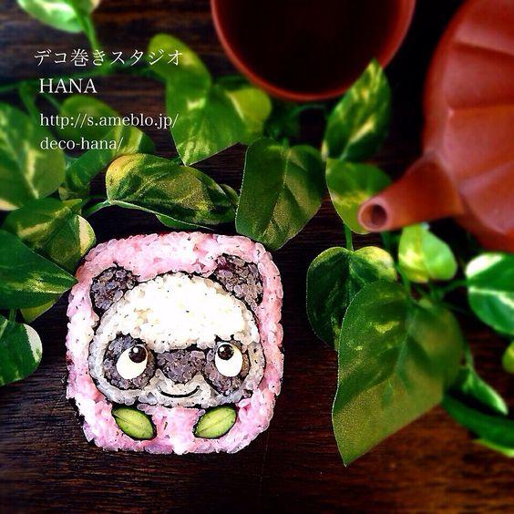 『パンダ』の飾り巻き寿司  パンダのデコ巻です◡̈♥︎