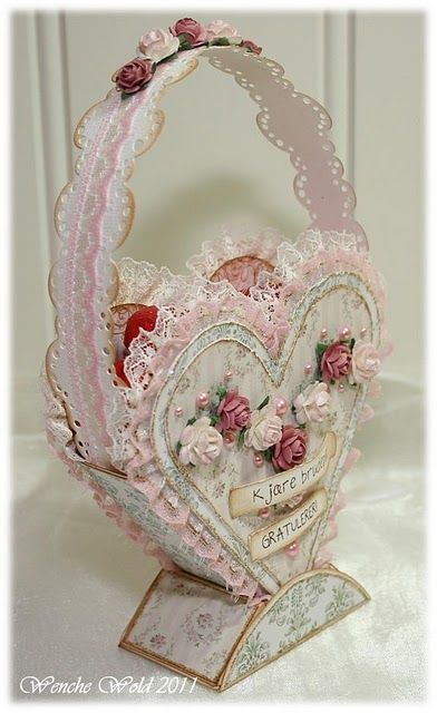 heart basket: Papercraft, Cards Love Valentines Weddings, Paper Heart, Crafts Valentines, Valentine S