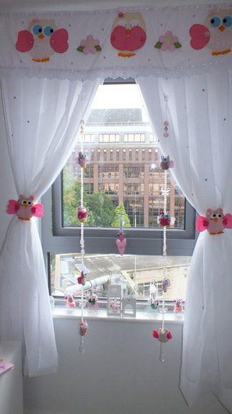 Pingente de cortina para decorar o quartinho do bebe o - Cortinas para cuarto ...