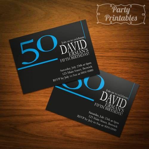 Male 50th Birthday Invitation Ideas   glitz and glam birthday ...
