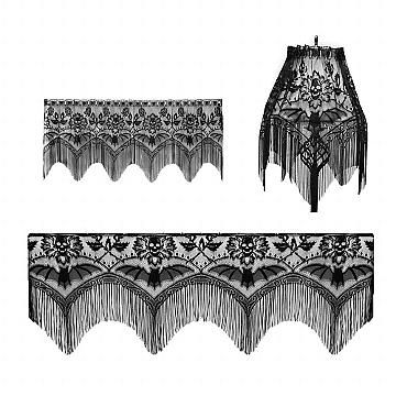 Sin in Linen Skull Bat Damask Lace 4 Way by Heritate Lace