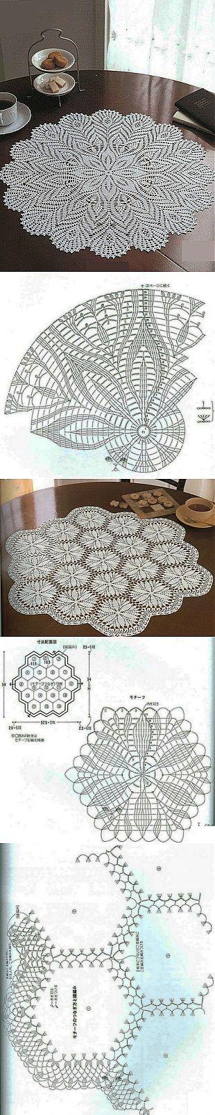 Схемы вязания салфеток: