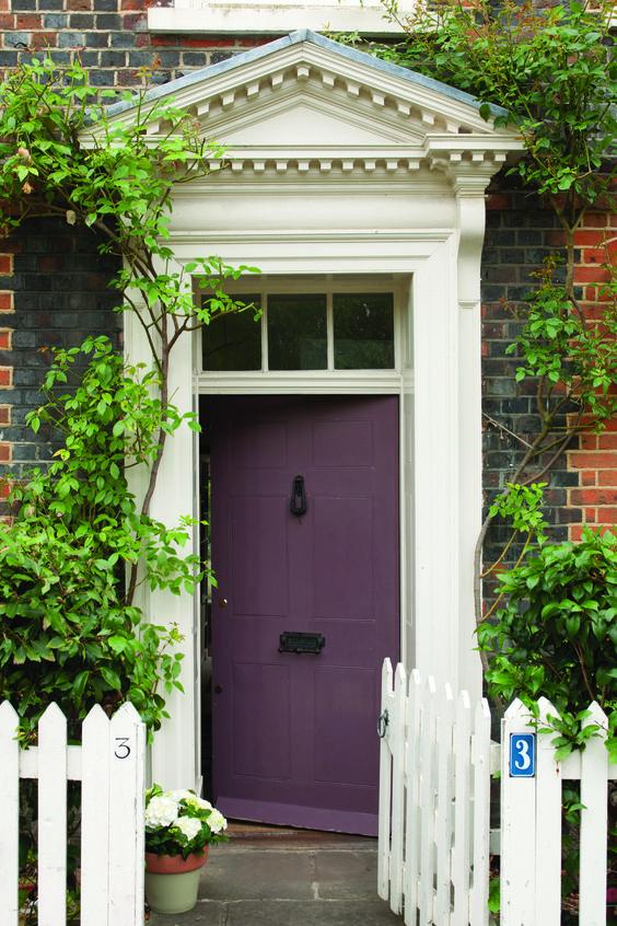 there is something to be said for people who have purple front doors :): Purple Door, Doors Windows, Front Doors, Exterior Doors, Exterior Door Colors, Purple Front Door