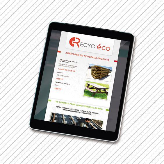 Recyc'éco, négoce de matériaux de construction.  Newsletter.  Site web : www.recyc-eco.com