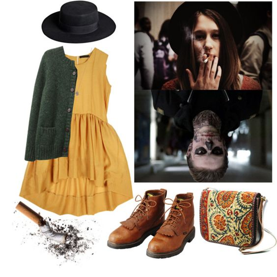"""Tate & Violet / AHS"" by dasha-volodina on Polyvore:"