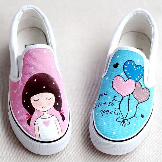 Zapatillas, Decoradas, Alpargatas, Pintadas, Ropa, Pintada, Camisetas, Pantalla, La, Zapatilla, Jugar, Juegos, Personalizar, Calzado, Zapatos, Tuneados