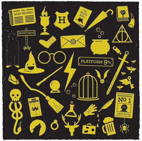 By Greg Christman Design Harry Potter And Icons