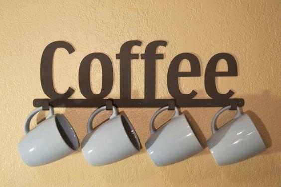 Tea Mug Holder Coffee Cup Rack Kitchen Cup Organizer Coffee Mug