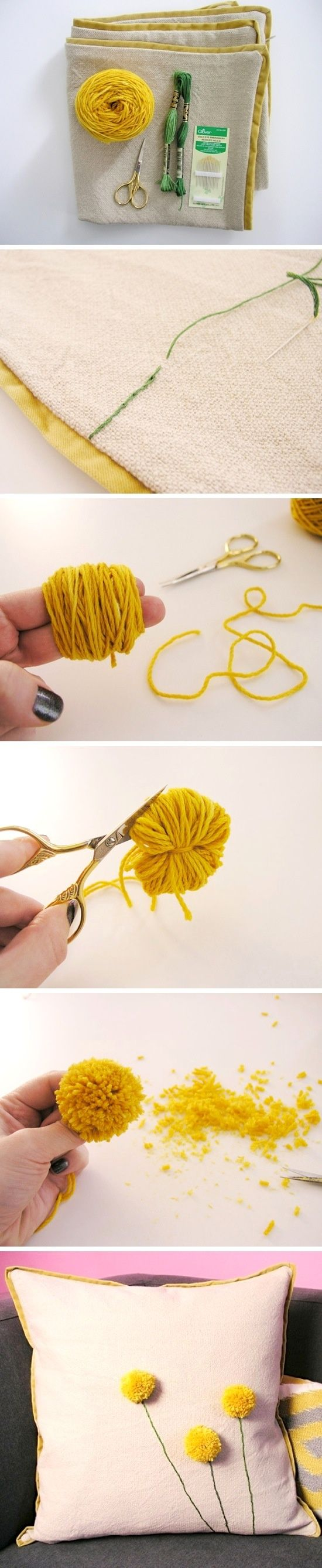 DIY Flowers-- these would be a great trim on the hem of a skirt or shirt