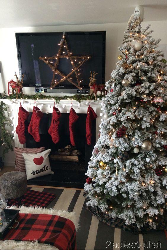 Como Decorar Tu Sala Esta Navidad 2017 2018 4 Christmas Decorations Living Room Christmas Room Christmas Living Rooms
