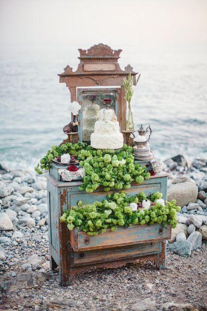 D coration buffet et g teau de mariage sur le th me de la - Decoration sur la mer ...