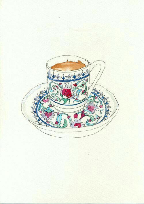 Turkishcoffee Turkkahvesi Pano Fincan Tablo Cerceve Kahve Coffee Resim Cizimler Illustration Cizim