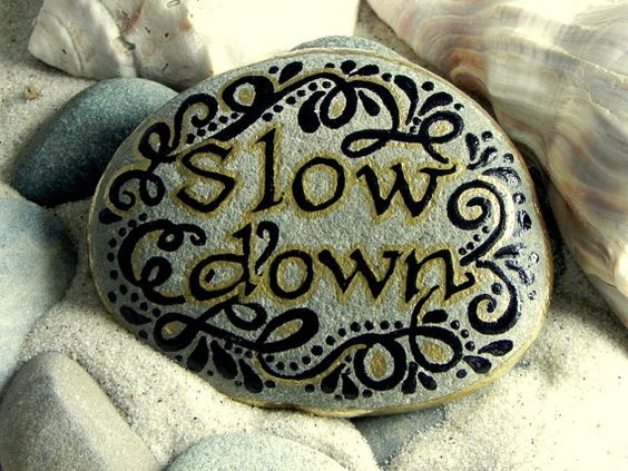 Slow Down / Painted Rock / Sandi Pike Foundas / by LoveFromCapeCod