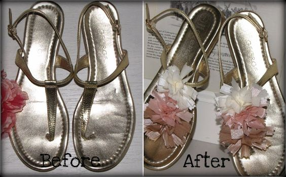 diy: embellish sandals