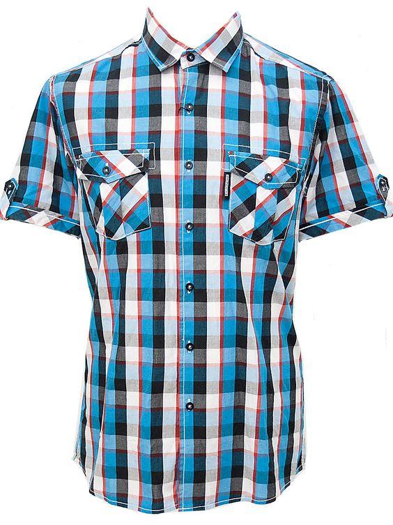 LAMBRETTA Blue Check - Men Shirt | Flaming Star Shop