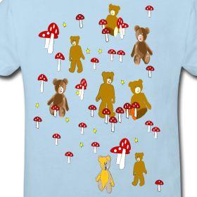 Kinder-Wald-Bären T- Shirt   Idee09
