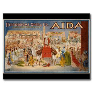 Poster oriental de la ópera de Egipto del egipcio  Tarjetas Postales