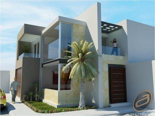 Casa modernas esquineras buscar con google ideas para - Casas con chimeneas modernas ...