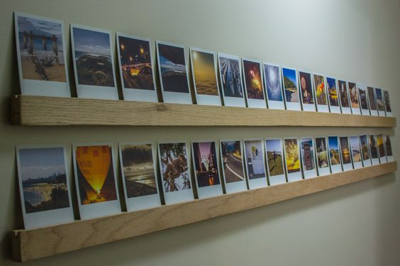 Polaroid photos from Origrami mounted on Red Oak. #photos #polaroid #origrami #photography #displayyourphotos