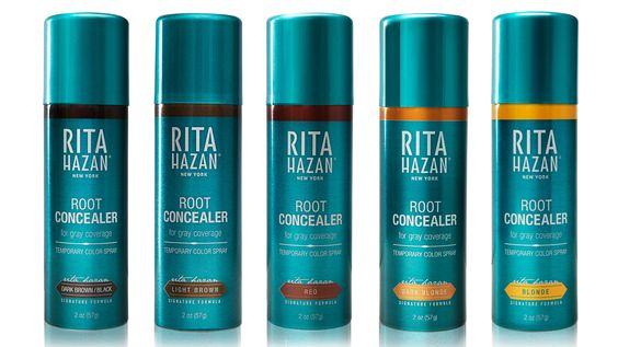 """Rita Hazan Color Root Spray, $25, sephora.com. """"Every one of my clients is obsessed with this product. It helps to fill in the hairline in a pinch and can even give quick and temporary highlights or lowlights."""" —Jen Atkin (Khloe Kardashian, Lorde, Jennifer Lopez)   - HarpersBAZAAR.com"""